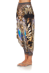 JERSEY DRAPE PANT WITH POCKET DRAGON LADY