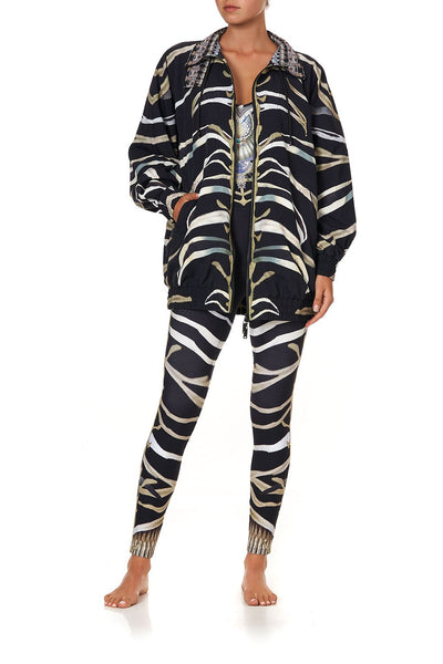 MID LENGTH WIND BREAKER JACKET ZEBRA CROSSING