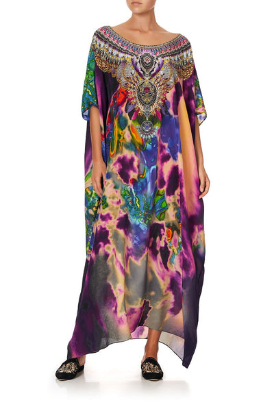 ROUND NECK KAFTAN ACID ABBEY
