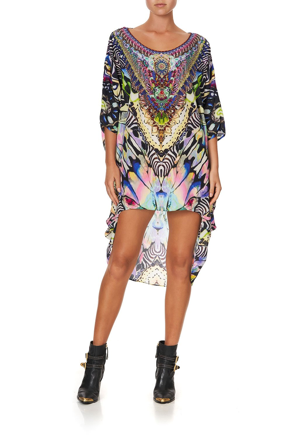 SCOOP BACK HEM DRESS TRANCE TEMPTATION