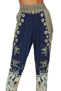 HAREM PANTS WITH FRONT PLEATS A LITTLE PAST TWILIGHT