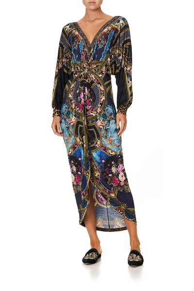 TWIST FRONT DRESS FIELDS OF TREASURE