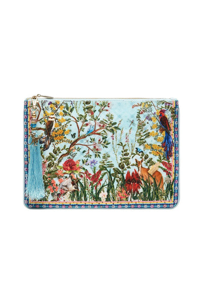 SMALL CANVAS CLUTCH MILLAS BACKYARD