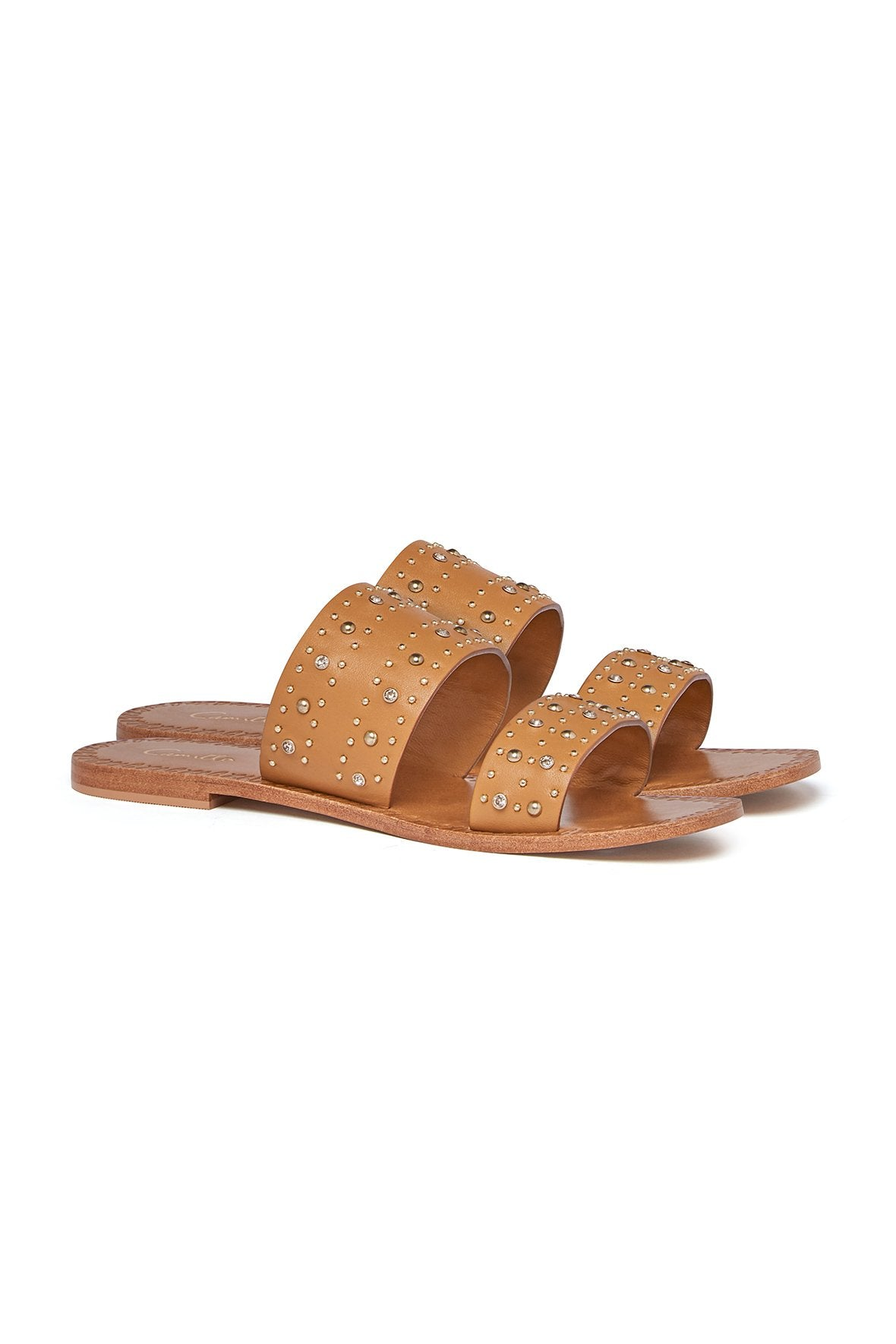 KNOTTED FOOTBED SLIDE MOTO MAIKO