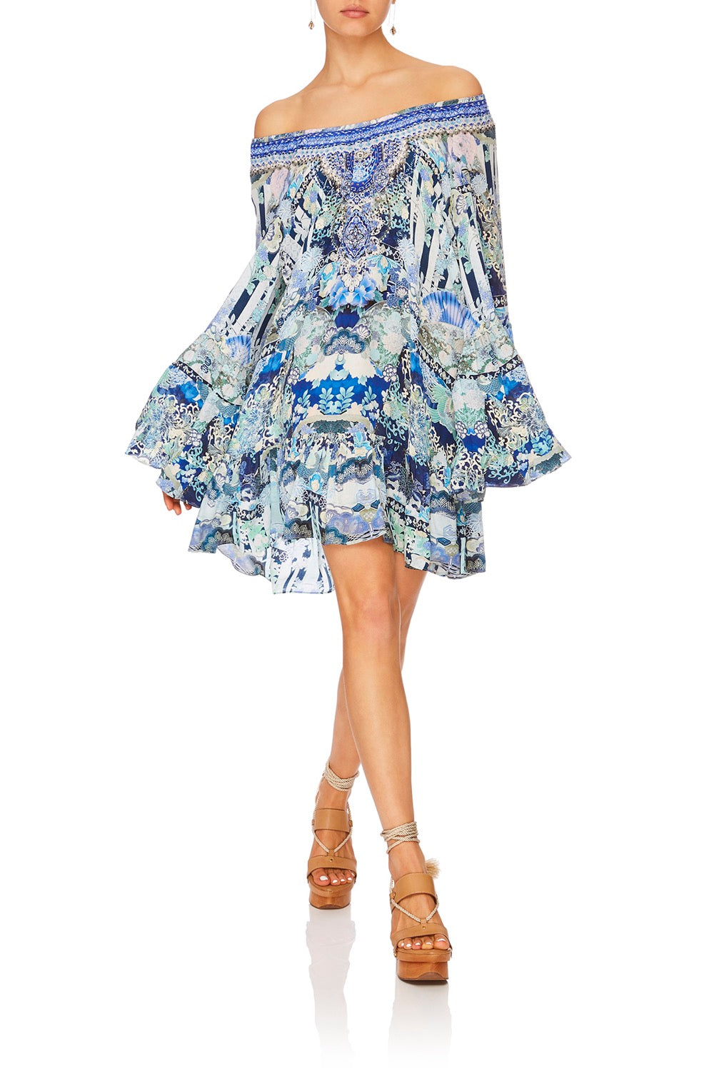 A-LINE FRILL DRESS CLOUD DANCER