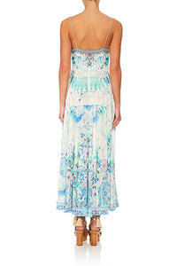 LONG DRESS WITH TIE FRONT HEAD IN THE CLOUDS