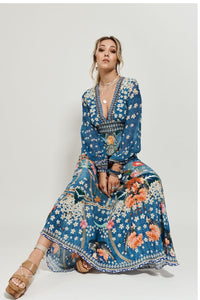 LANTERN SLEEVE DRESS FARAWAY FLORALS