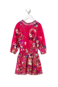 KIDS RELAXED SHIRRED WAIST DRESS BEAUTIFUL BEINGS