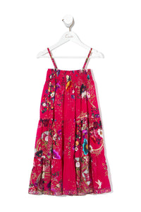 KIDS SHIRRED WAIST MAXI SKIRT BEAUTIFUL BEINGS