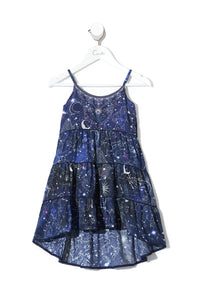 KIDS HI LOW HEM DRESS STARGAZERS DAUGHTER