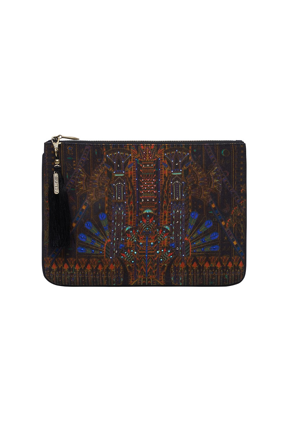 SMALL CANVAS CLUTCH GATEWAY TO GIZA