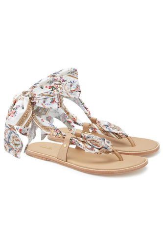 FABRIC TIE SANDAL OLYMPE ODE