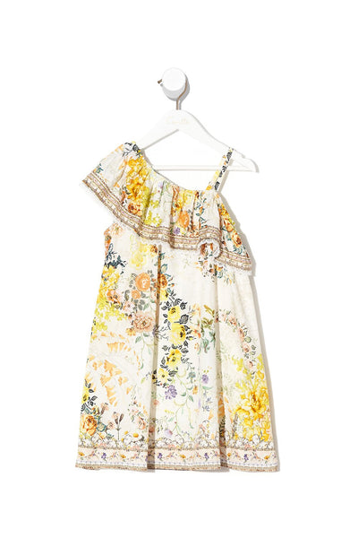 INFANTS ONE SHOULDER DRESS IN THE HILLS OF TUSCANY