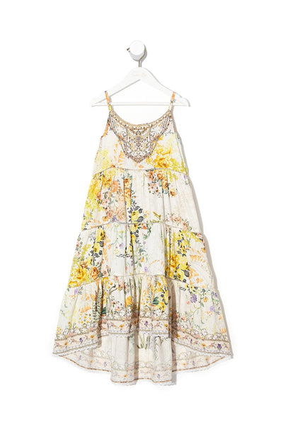 INFANTS HIGH LOW HEM DRESS IN THE HILLS OF TUSCANY