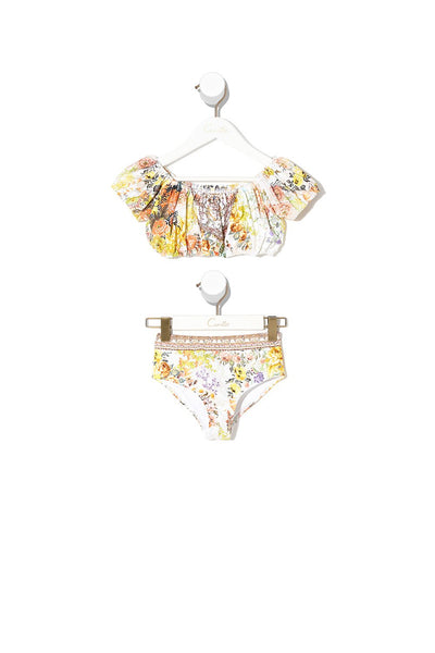 KIDS PUFF SLEEVE BIKINI IN THE HILLS OF TUSCANY