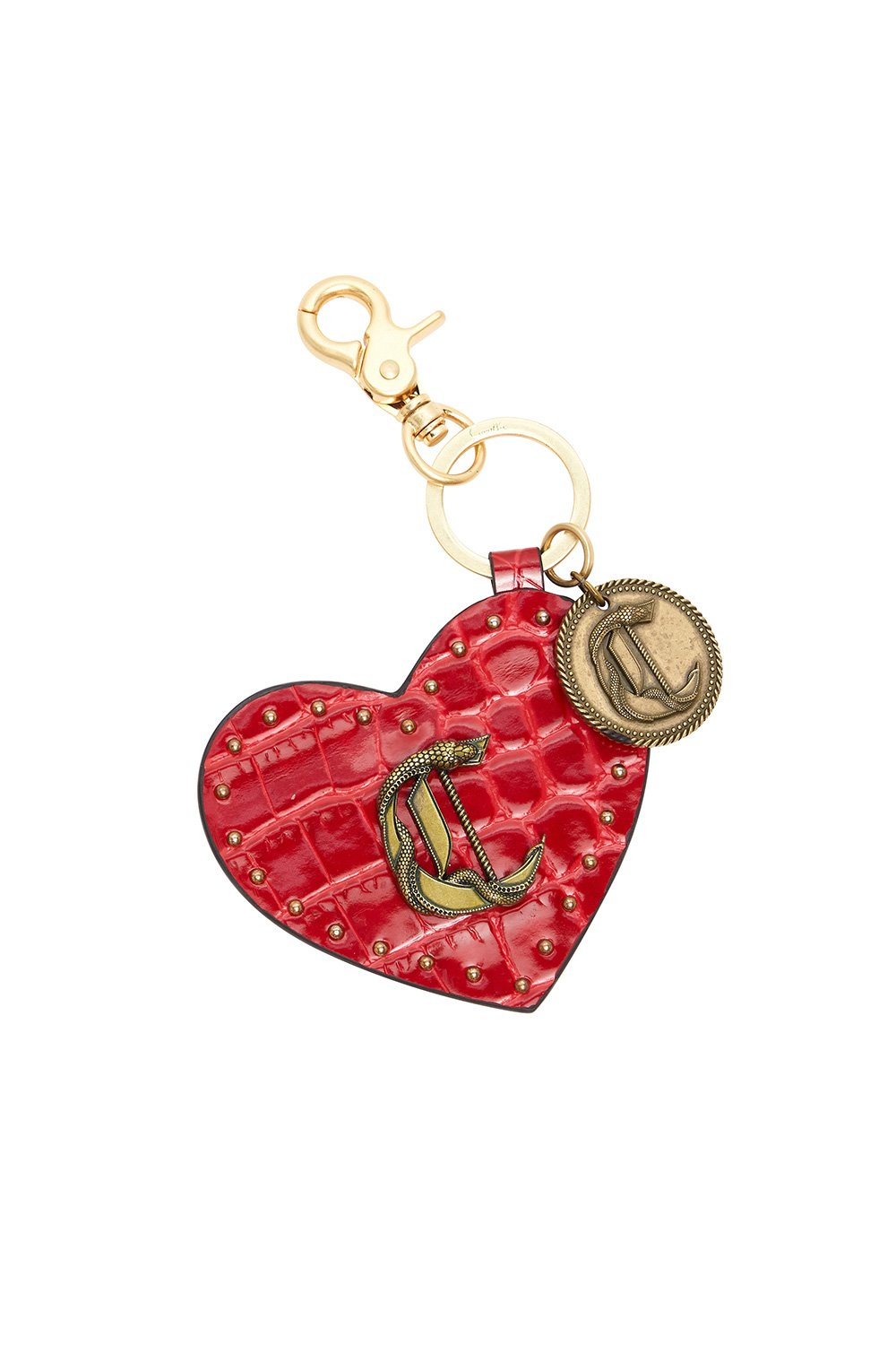 LEATHER HEART KEY RING PIRATE PUNK