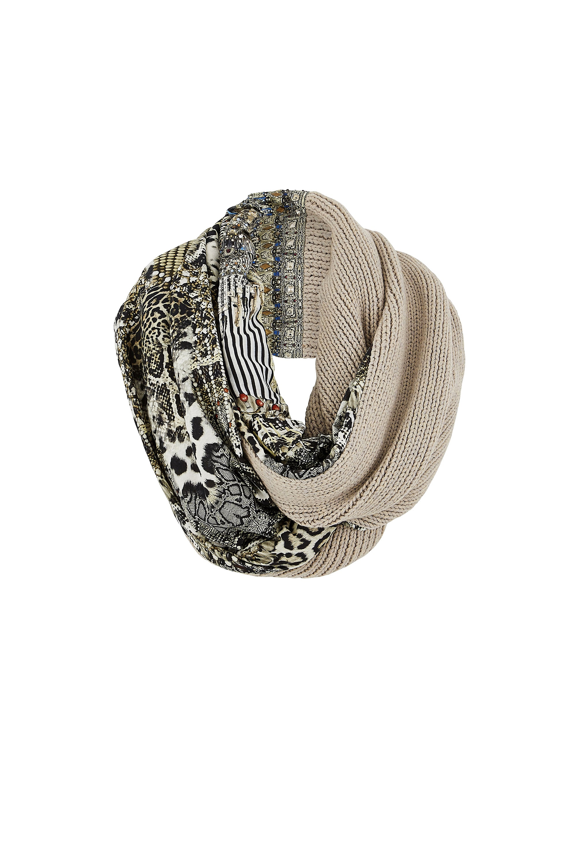 ANIMAL INSTINCT DOUBLE SIDED SCARF