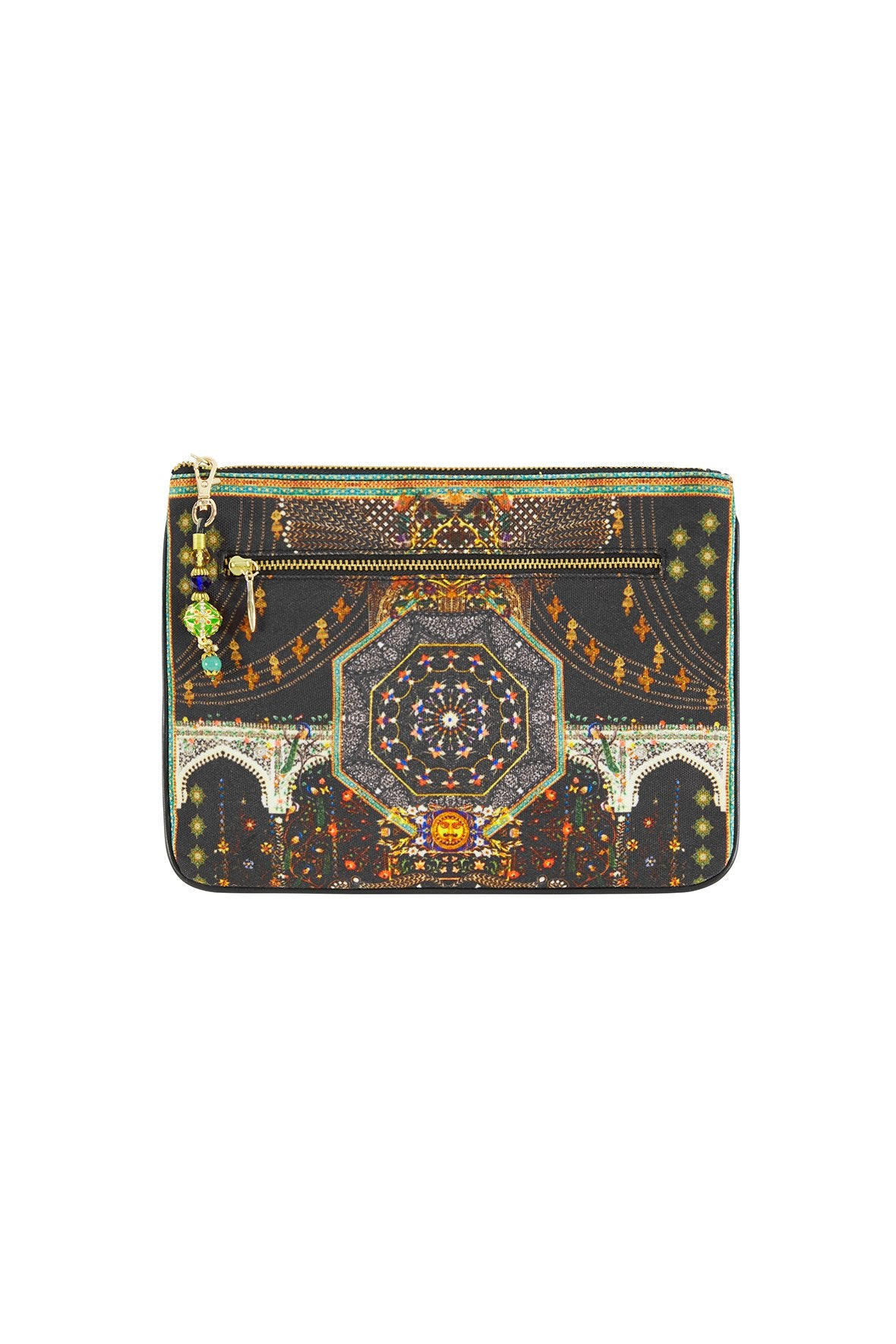 BEHIND CLOSED DOORS SMALL CANVAS CLUTCH