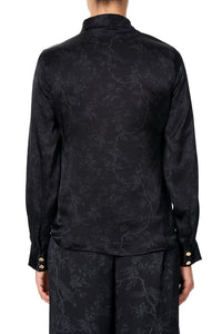 SLIM FIT LONG SLEEVE SHIRT NOIR BOUDOIR