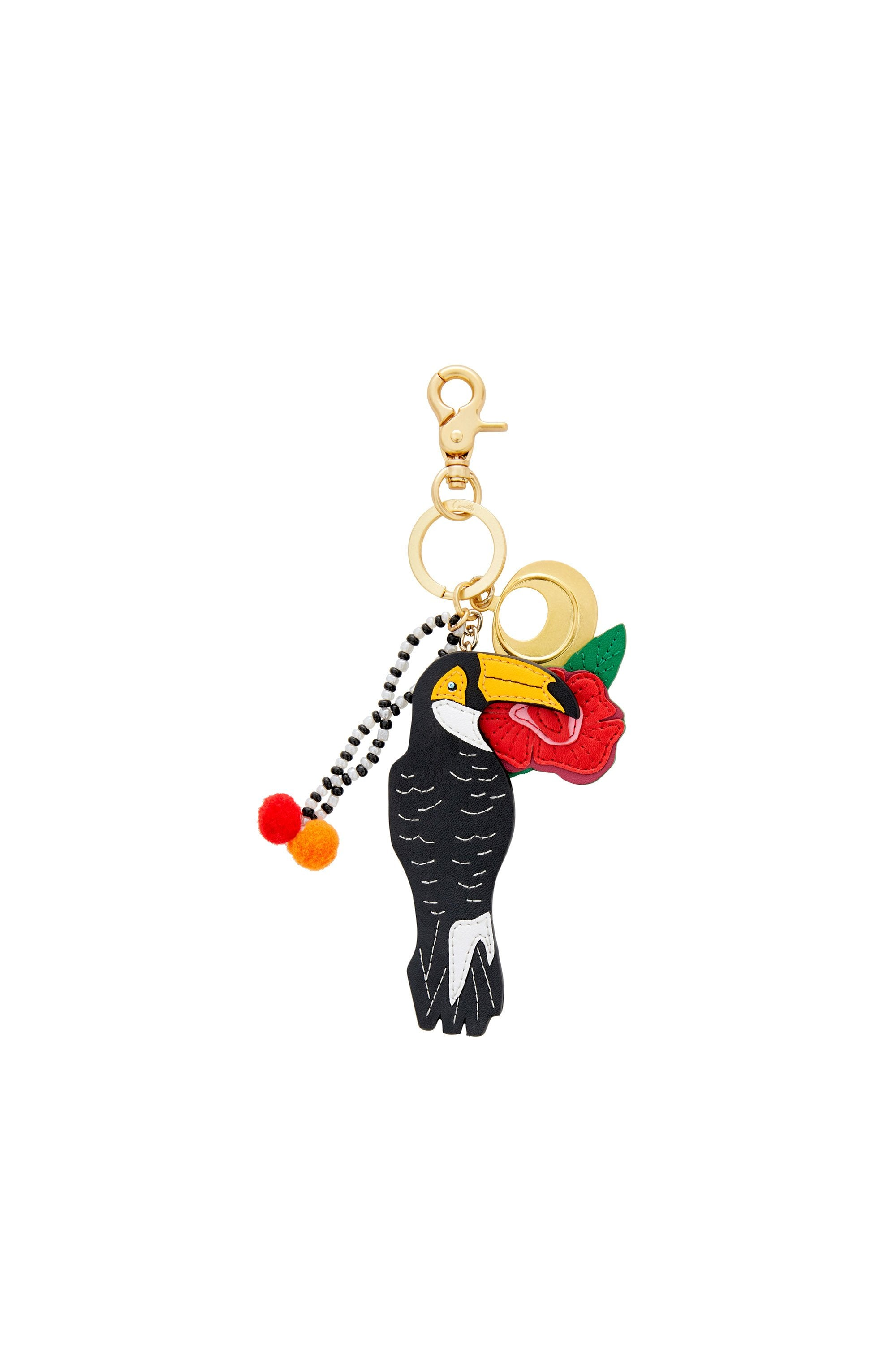 CALL ME CARMEN APPLIQUE LEATHER KEYRING