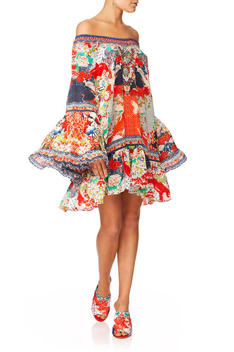 CAMILLA GEISHA GIRL A-LINE FRILL DRESS