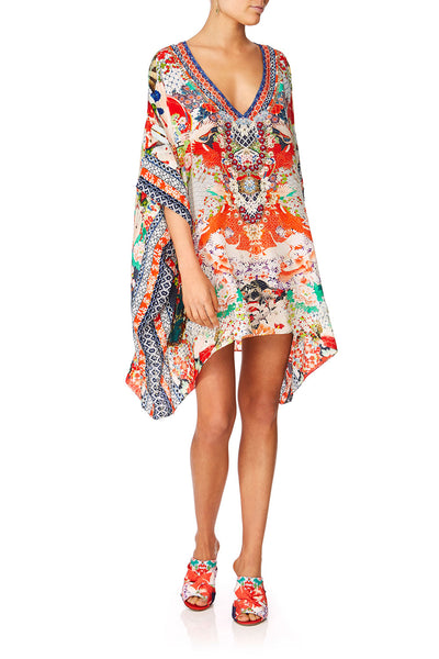 CAMILLA GEISHA GIRL RECTANGULAR V-NECK KAFTAN