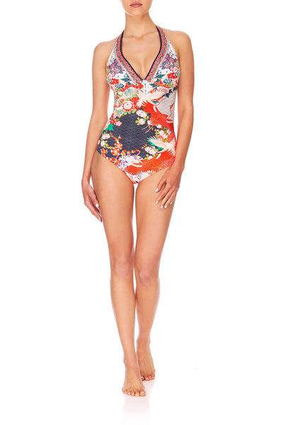 CAMILLA GEISHA GIRL HALTER ONE PIECE