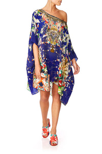 CAMILLA MAIKOS MIDNIGHT SHORT ROUND NECK KAFTAN