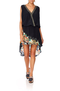 CAMILLA MIDNIGHT MOONCHILD CROSSOVER DRESS W LONG BACK