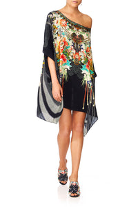 CAMILLA QUEEN OF KINGS SHORT ROUND NECK KAFTAN