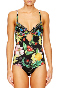 CALL ME CARMEN FRILL TAB TIE ONE PIECE