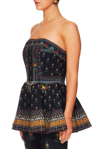 BLISS OF BOHEMIA FITTED PEPLUM CORSET