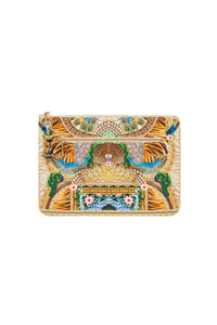 A WOMANS WISDOM SMALL CANVAS CLUTCH