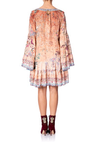 A-LINE GATHERED PANEL DRESS ALL MY AVIGNON