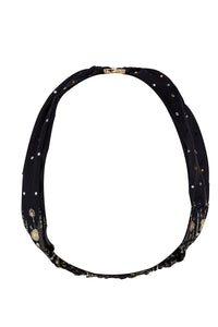 CAMILLA SOLID BLACK RING HEADBAND