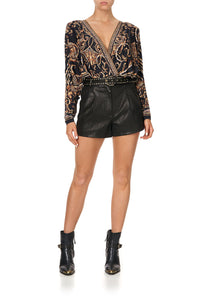 BELTED HIGH WAIST SHORTS - FLOW STUDIO 54