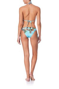 HALTER SLIDE TRI WITH TRIM GIRL FROM ST TROPEZ