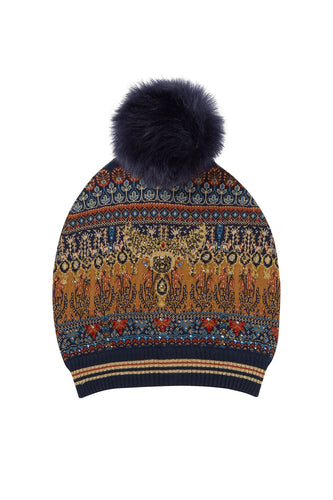 BLISS OF BOHEMIA BEANIE W POM POM