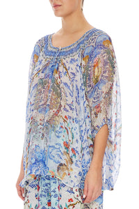 CAMILLA BLOUSE WITH KEYHOLE FRONT GEISHA GATEWAYS