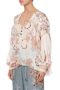 BLOUSON BLOUSE WITH NECK TIE MARRAKESH MAIDEN