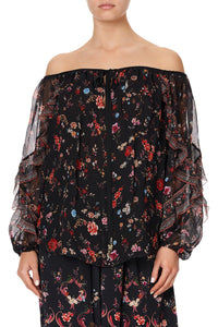 BLOUSON DROP SHOULDER BLOUSE A GIRL LIKE YOU