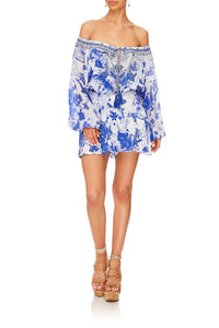 BLOUSON SLEEVE PLAYSUIT THE FAN SEA