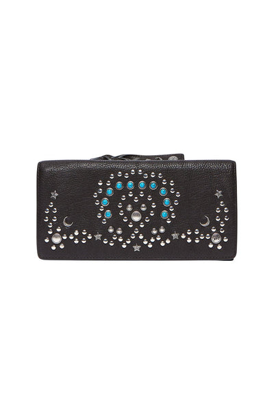 CAMILLA BOHEMIAN LEATHER WALLET BLACK