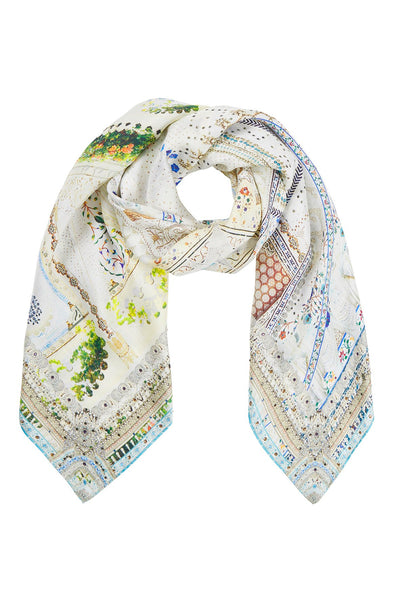 BREAKFAST WITH SILVIA LARGE SQUARE SCARF