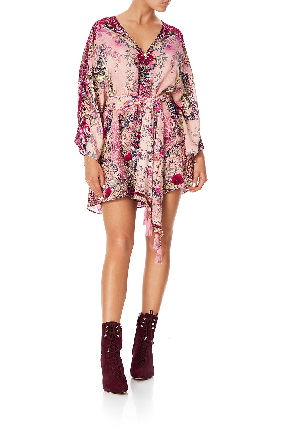 CAMILLA BUTTON UP KAFTAN WITH BELT LA BELLE
