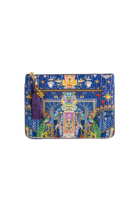 CHILDREN OF THE WORLD SMALL CANVAS CLUTCH