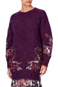 COCOON KNIT JUMPER VIOLET CITY