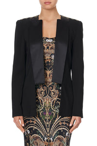 CONTRAST COLLAR SUIT JACKET - FLOW STUDIO 54