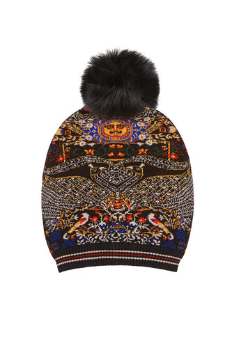 BEHIND CLOSED DOORS BEANIE W DETACHABLE POM POM