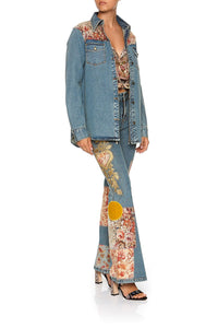 STUDDED DENIM SHIRT JEANNE QUEEN